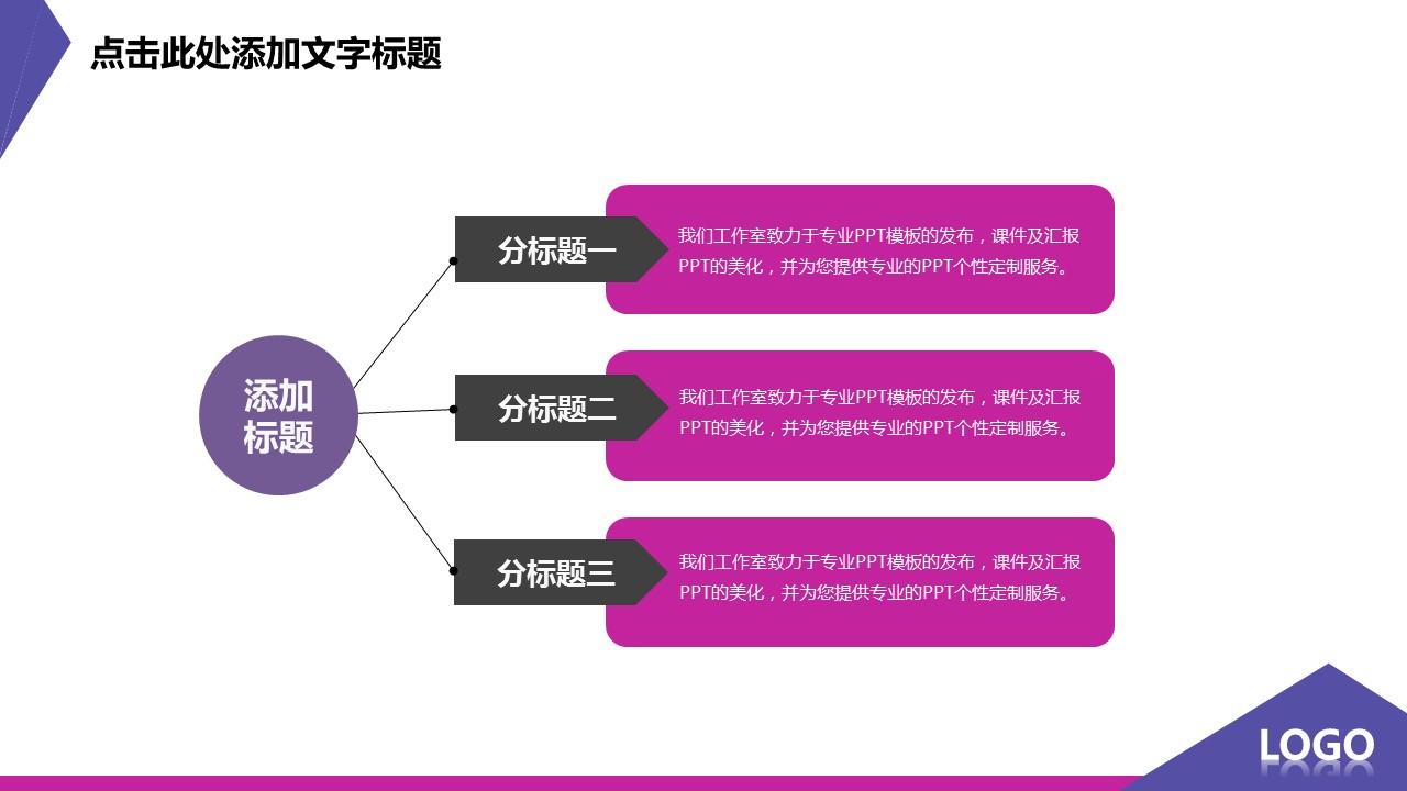 紫色炫酷扁平化个性创意PPT模板_预览图9