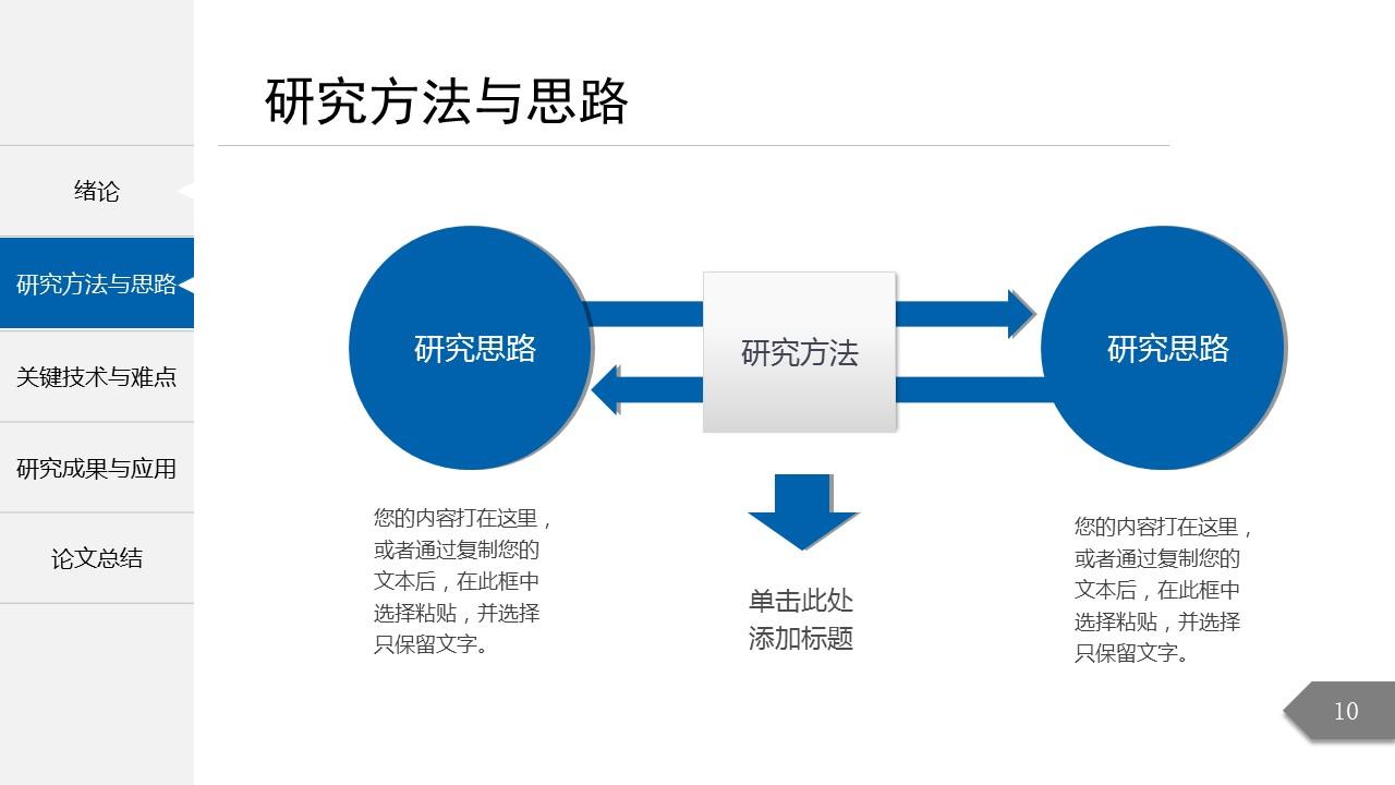 简约精致毕业论文答辩PowerPoint模板_预览图4