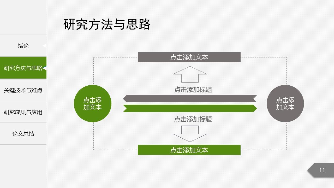 绿色简洁最新大学论文开题报告PPT模板下载_预览图11