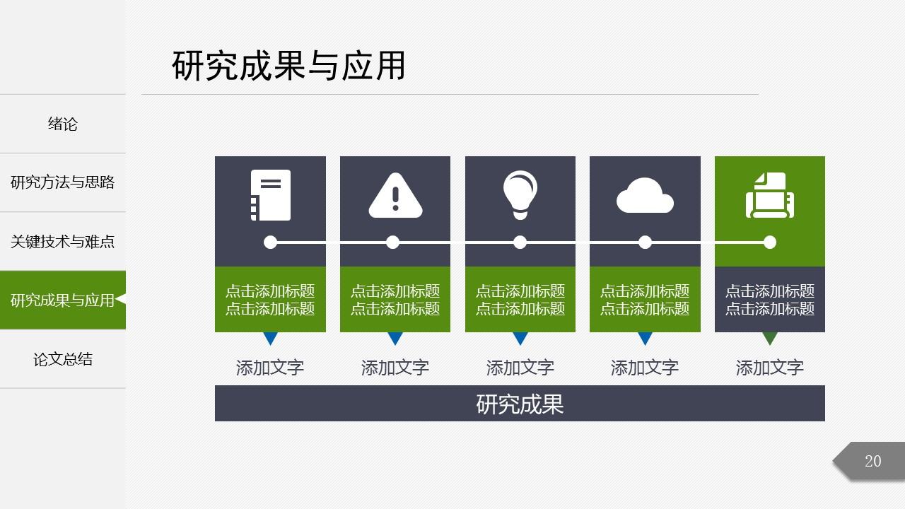 绿色简洁最新大学论文开题报告PPT模板下载_预览图20