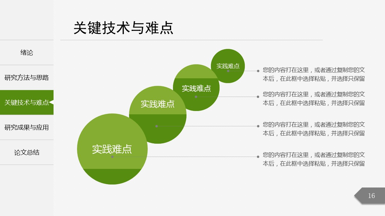绿色简洁最新大学论文开题报告PPT模板下载_预览图16