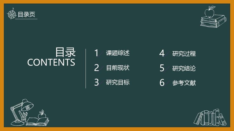 黑板风格校园风PowerPoint模板下载_预览图2