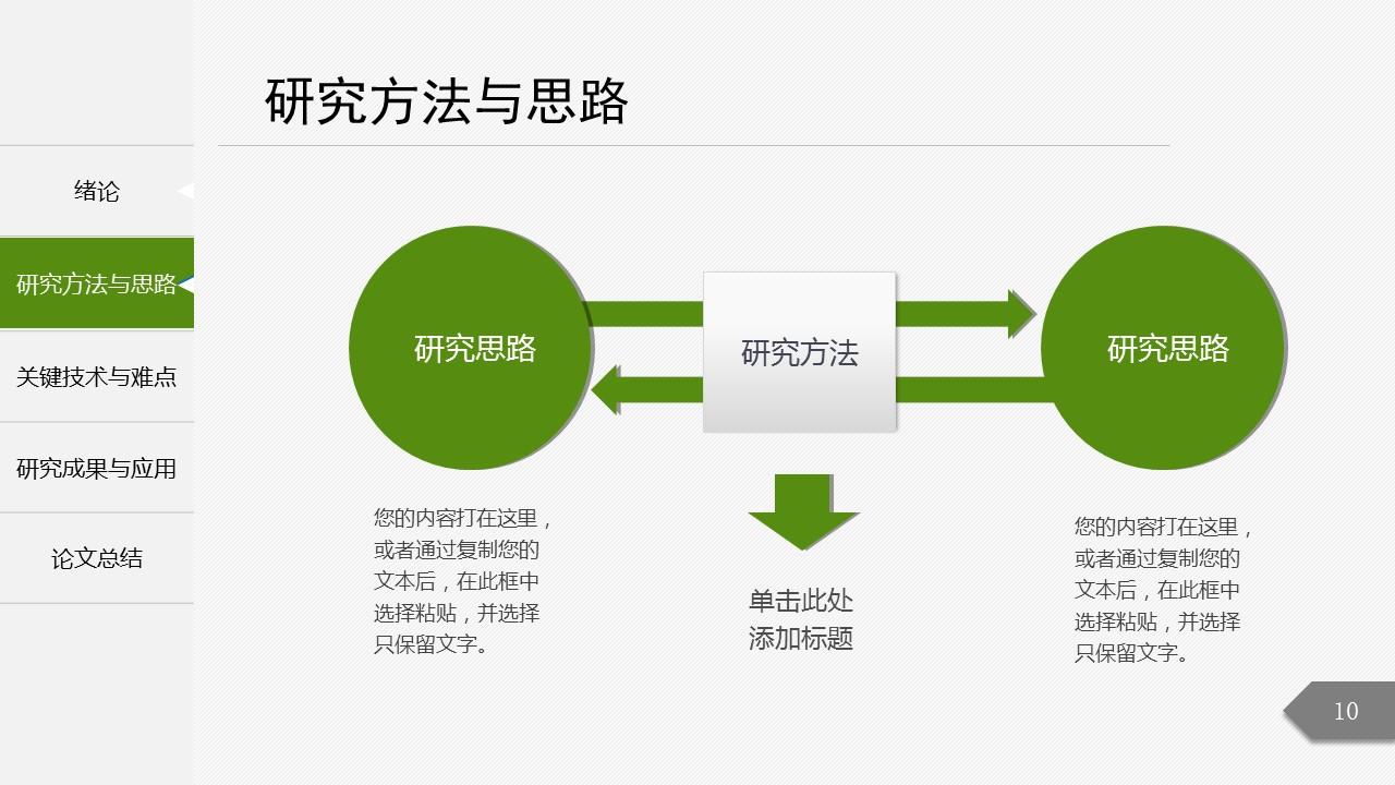 绿色简洁最新大学论文开题报告PPT模板下载_预览图10
