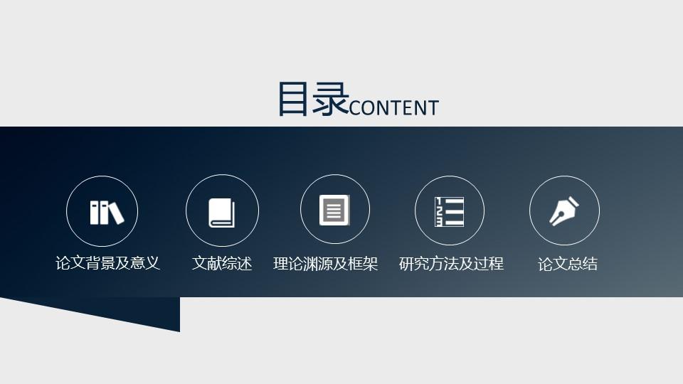 深蓝色严谨PowerPoint模板下载_预览图6