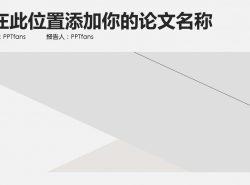 灰白色极致简约风格总结报告PPT模板下载