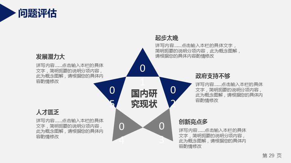 蓝色严谨研究生毕业论文答辩PPT模板_预览图14