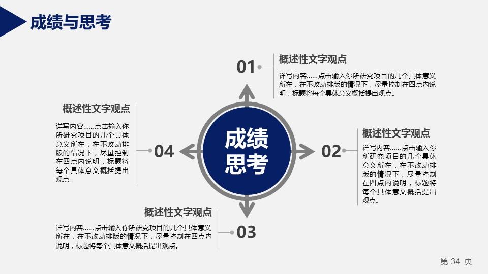 蓝色严谨研究生毕业论文答辩PPT模板_预览图9