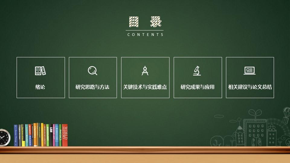 创意黑板毕业答辩PowerPoint模板下载_预览图2