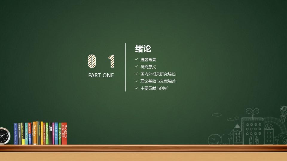 创意黑板毕业答辩PowerPoint模板下载_预览图3