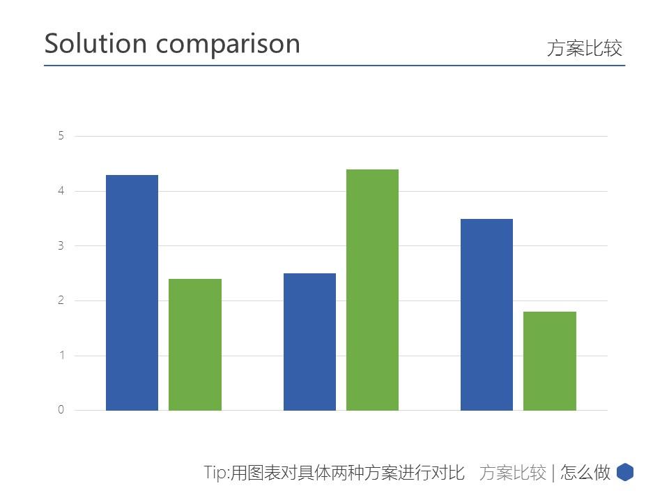 蓝色简洁多边形商务汇报PPT模板下载_预览图18