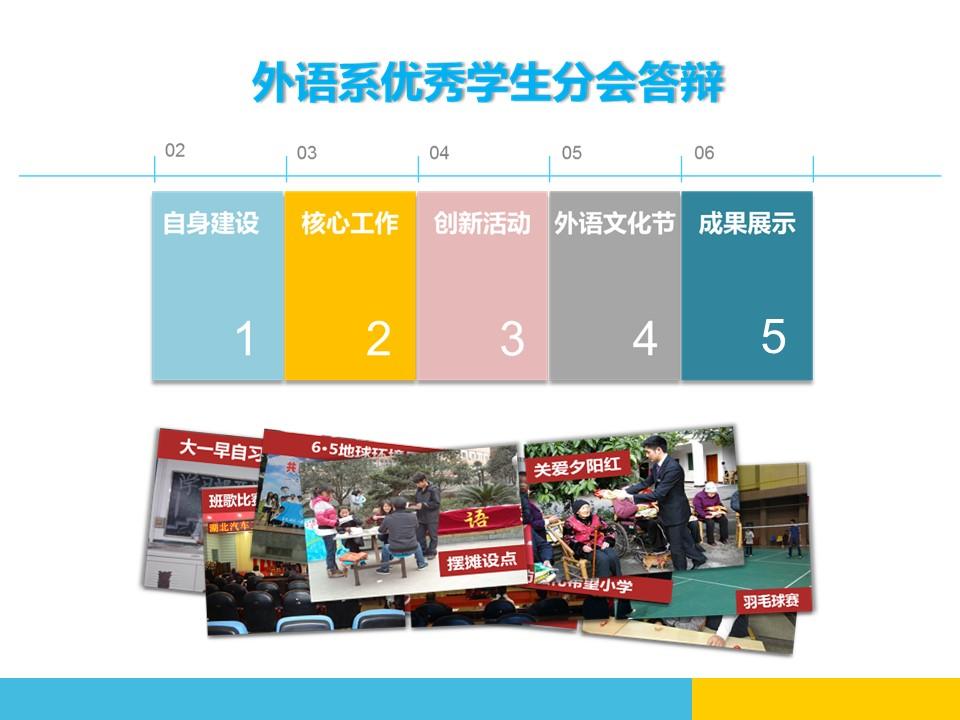 外语系文化节活动策划PPT模板下载_预览图1