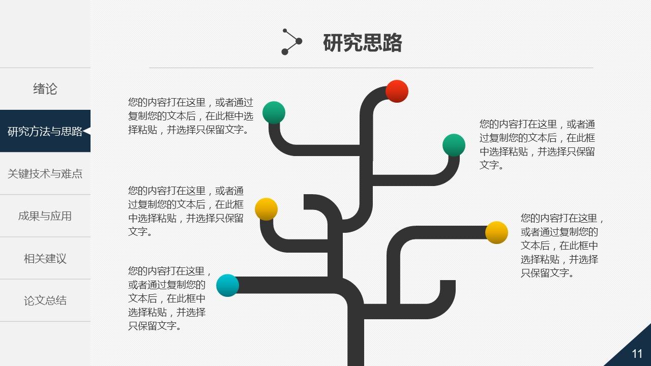 大学通用论文答辩时尚PPT模板下载_预览图11