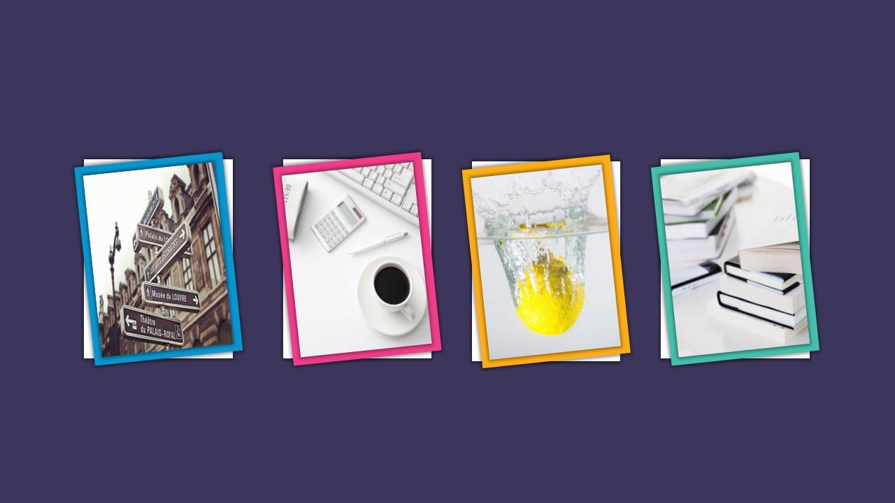 紫色多彩边框论文答辩PPT模板下载_预览图12