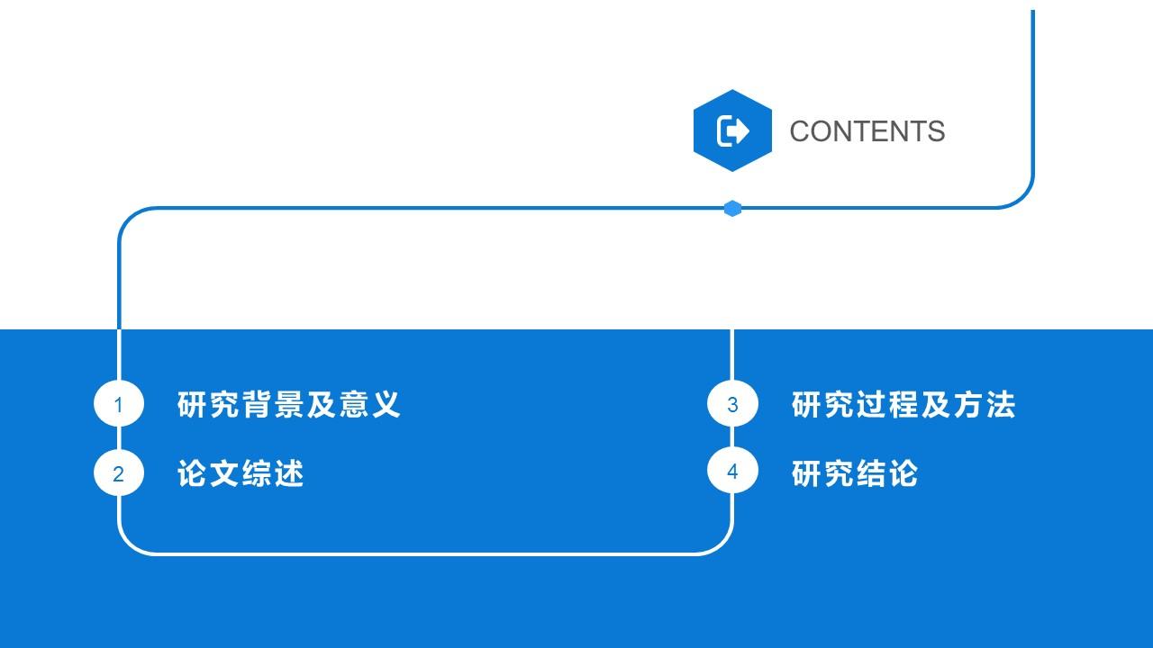 蓝色简洁通用版大学论文PPT答辩模板下载_预览图2