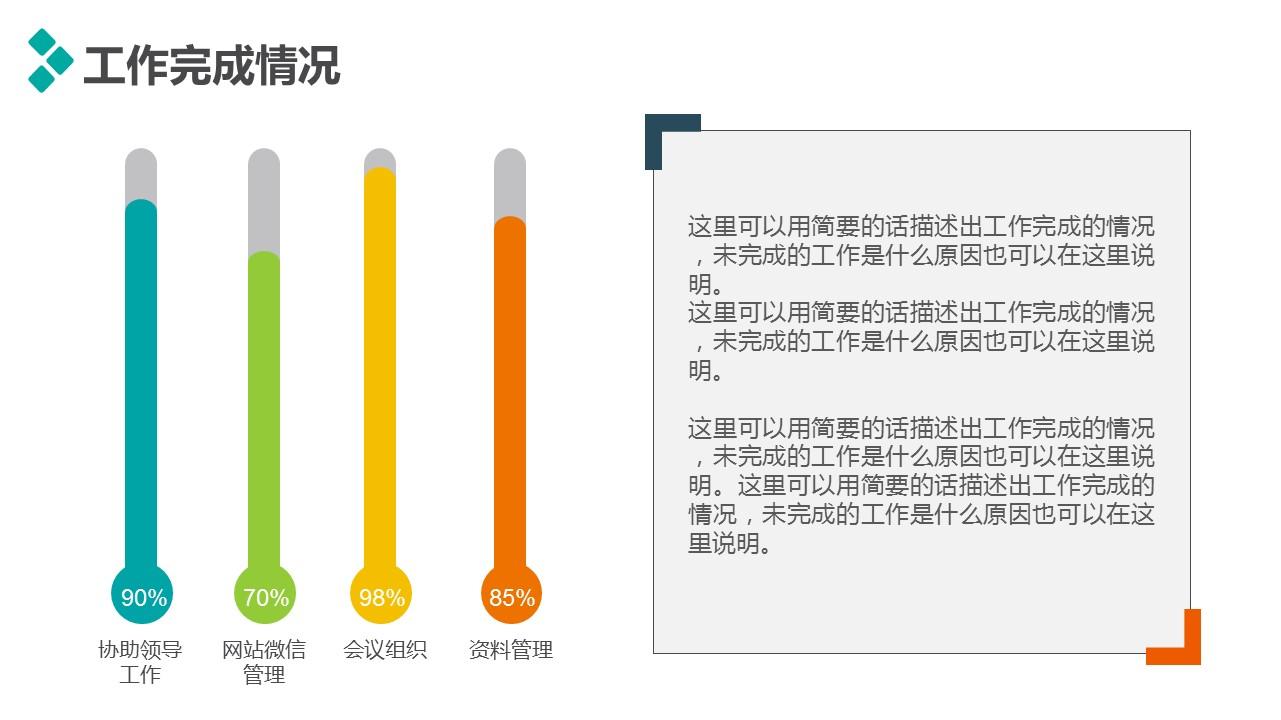 個人述職報告彩色PPT模板下載_預覽圖6