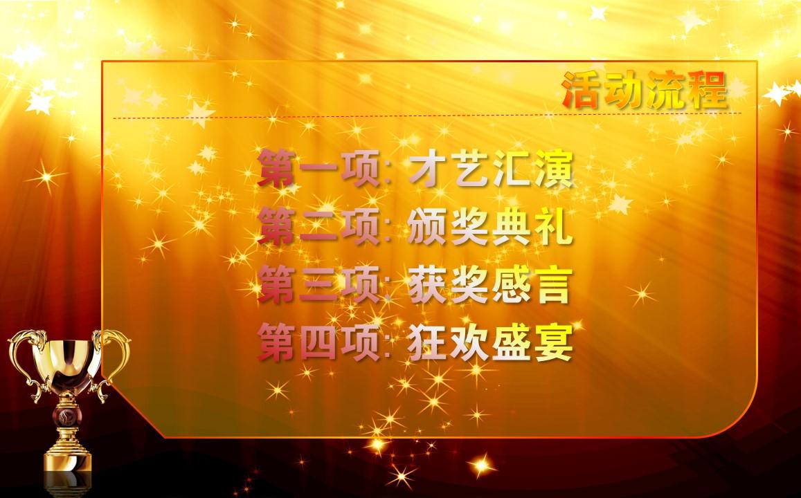 年度先进员工表彰典PPT模板下载_预览图3