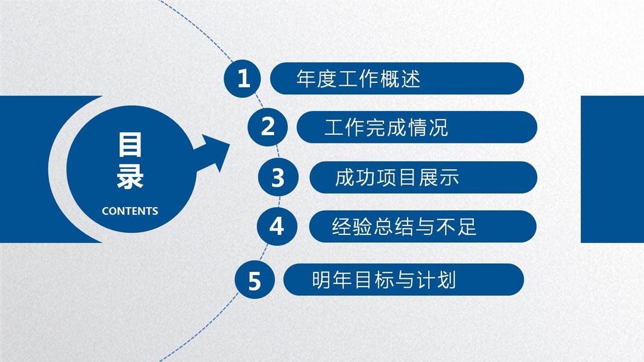 年度工作总结蓝色清新PPT模板下载_预览图9