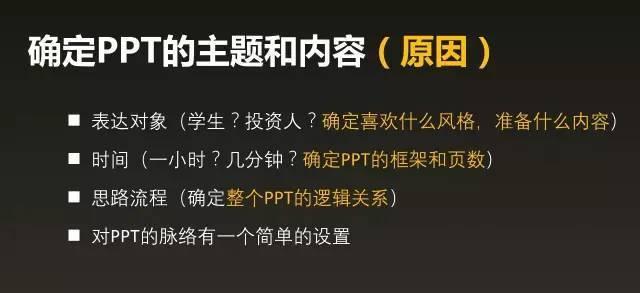 演讲型PPT的制作套路