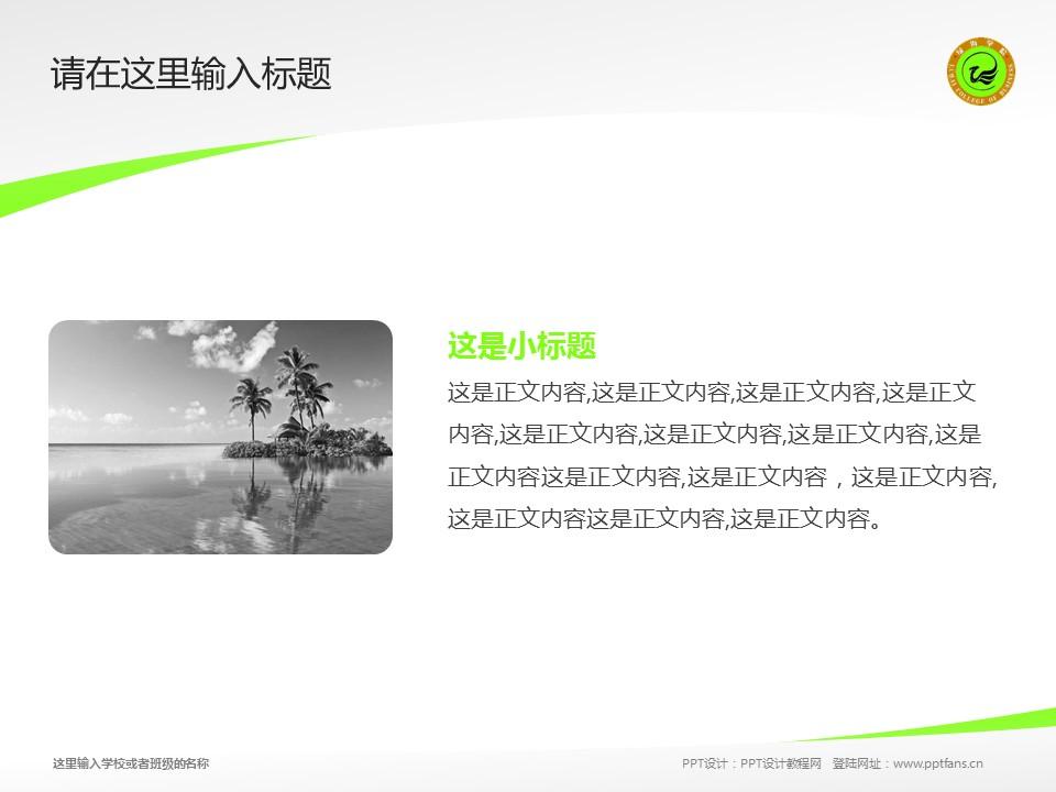 安徽绿海商务职业学院PPT模板下载_幻灯片预览图4