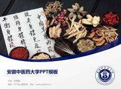 安徽中医药大学PPT模板下载