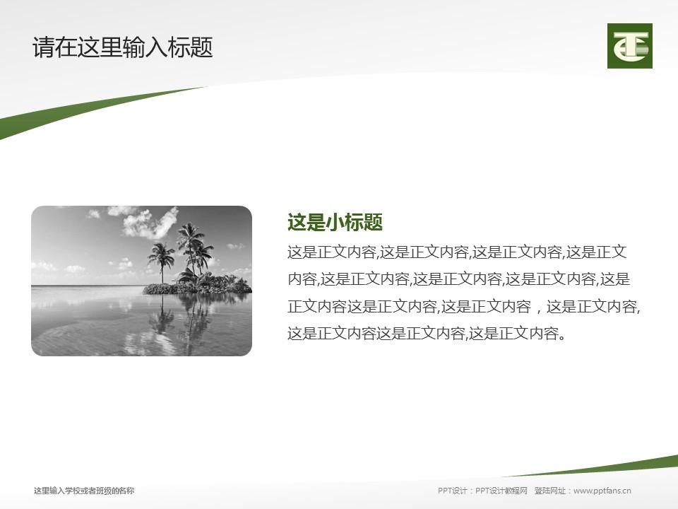 民办安徽旅游职业学院PPT模板下载_幻灯片预览图4