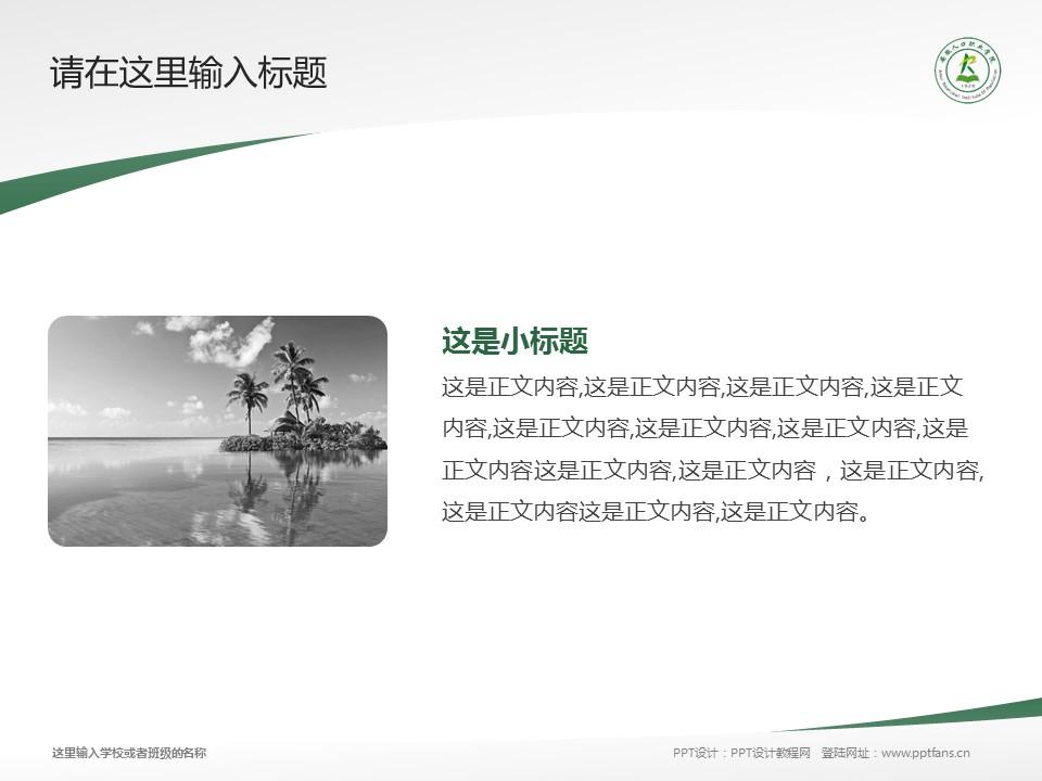 安徽人口职业学院PPT模板下载_幻灯片预览图4