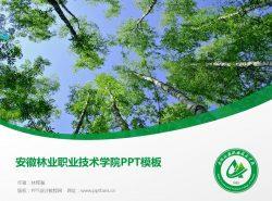 安徽林业职业技术学院PPT模板下载