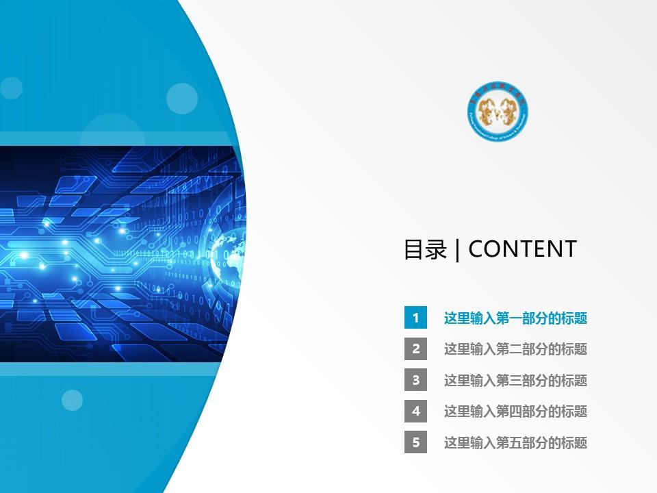 阜阳科技职业学院PPT模板下载_幻灯片预览图2