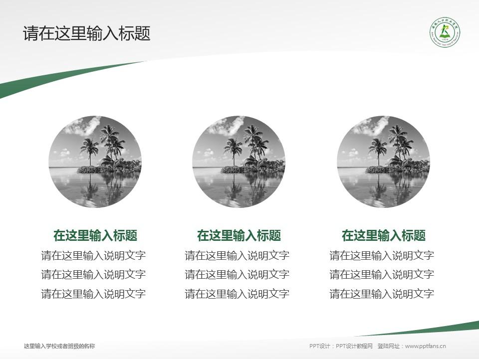 安徽人口职业学院PPT模板下载_幻灯片预览图3