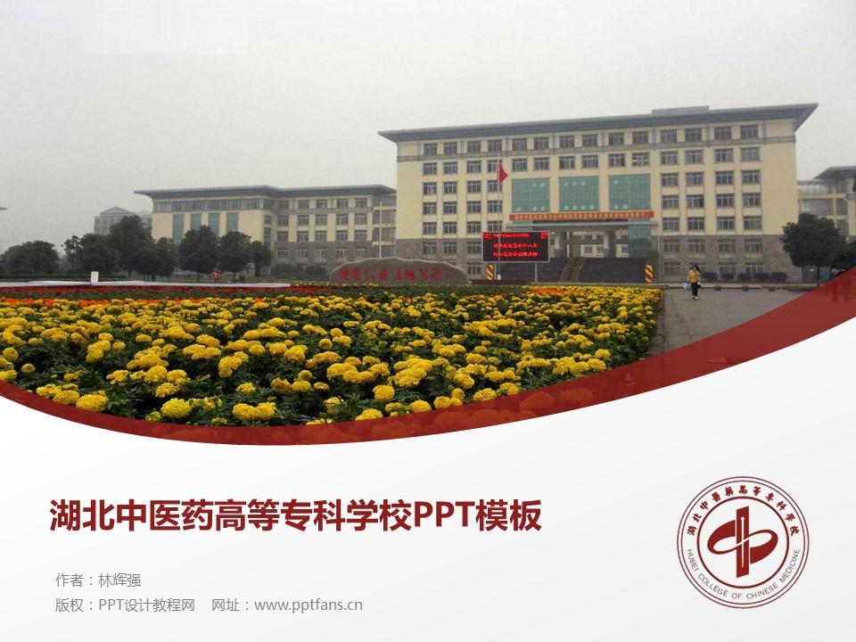 湖北中医药高等专科学校PPT模板下载_幻灯片预览图1