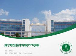 咸宁职业技术学院PPT模板下载
