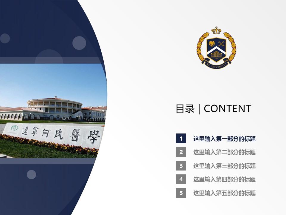 辽宁何氏医学院PPT模板下载_幻灯片预览图2