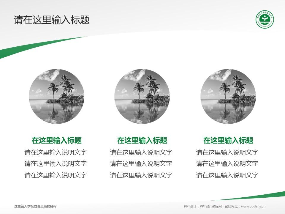 白城医学高等专科学校PPT模板_幻灯片预览图3