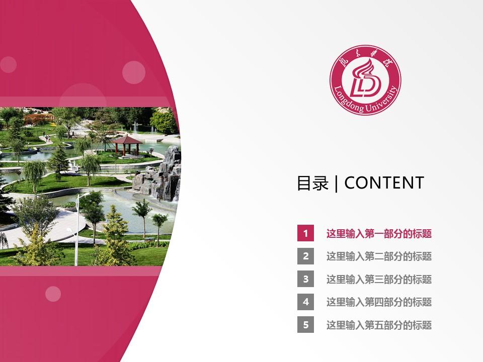 陇东学院PPT模板下载_幻灯片预览图2