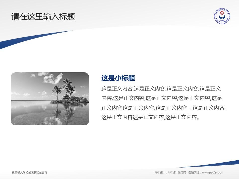 青海卫生职业技术学院PPT模板下载_幻灯片预览图4