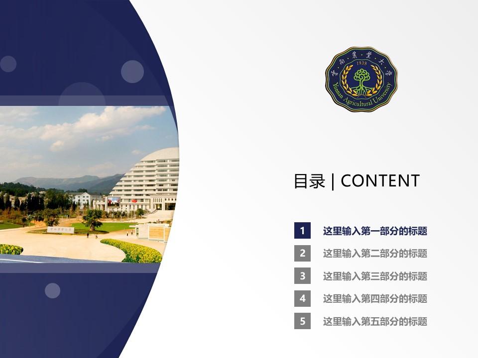 云南农业大学PPT模板下载_幻灯片预览图2