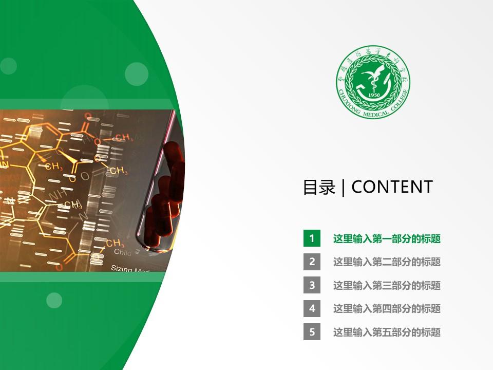 楚雄医药高等专科学校PPT模板下载_幻灯片预览图2