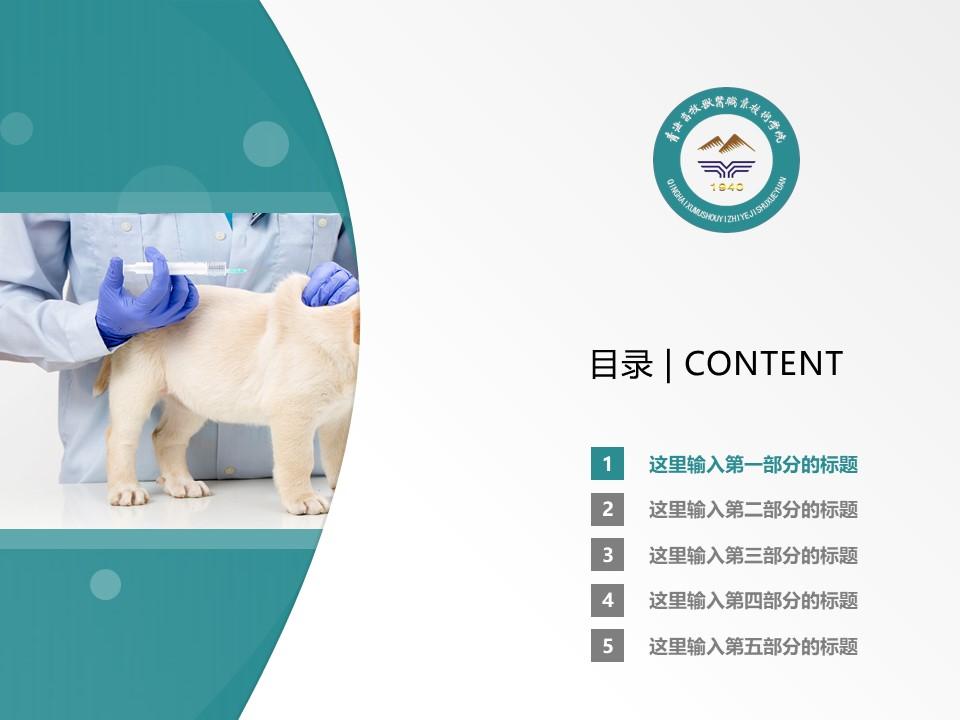 青海畜牧兽医职业技术学院PPT模板下载_幻灯片预览图2