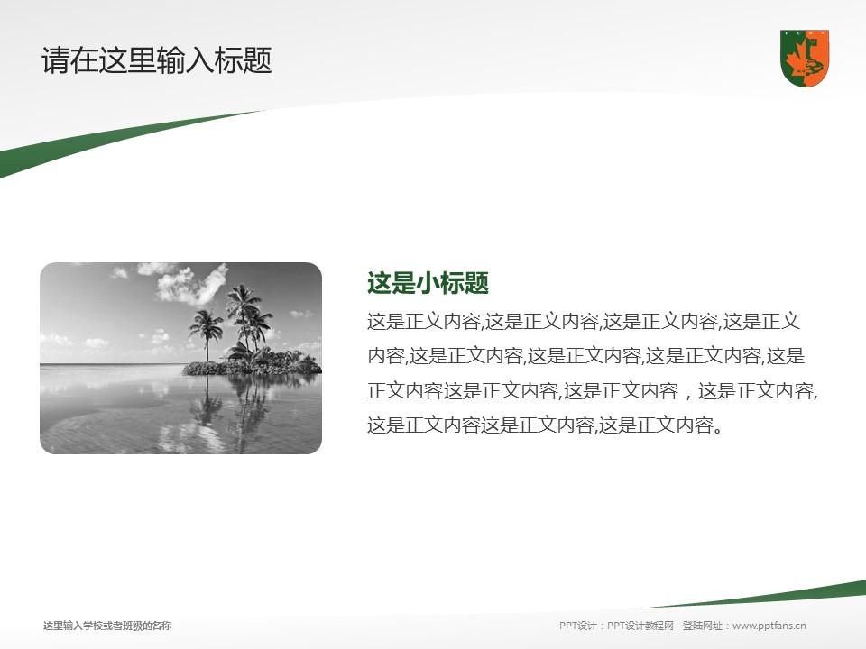 江西枫林涉外经贸职业学院PPT模板下载_幻灯片预览图4