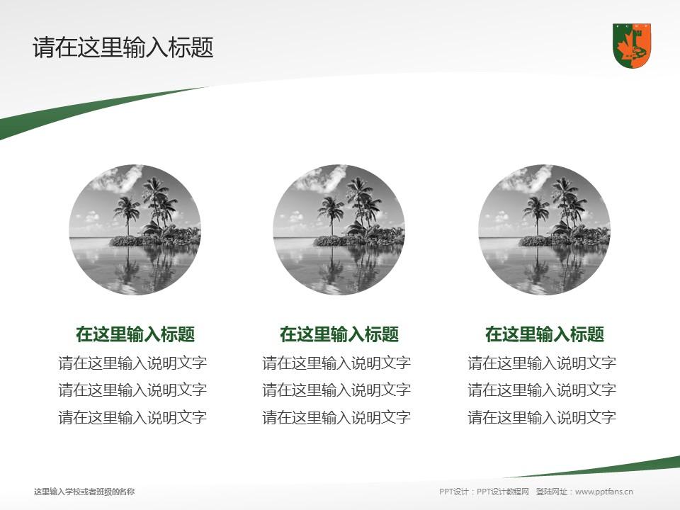 江西枫林涉外经贸职业学院PPT模板下载_幻灯片预览图3