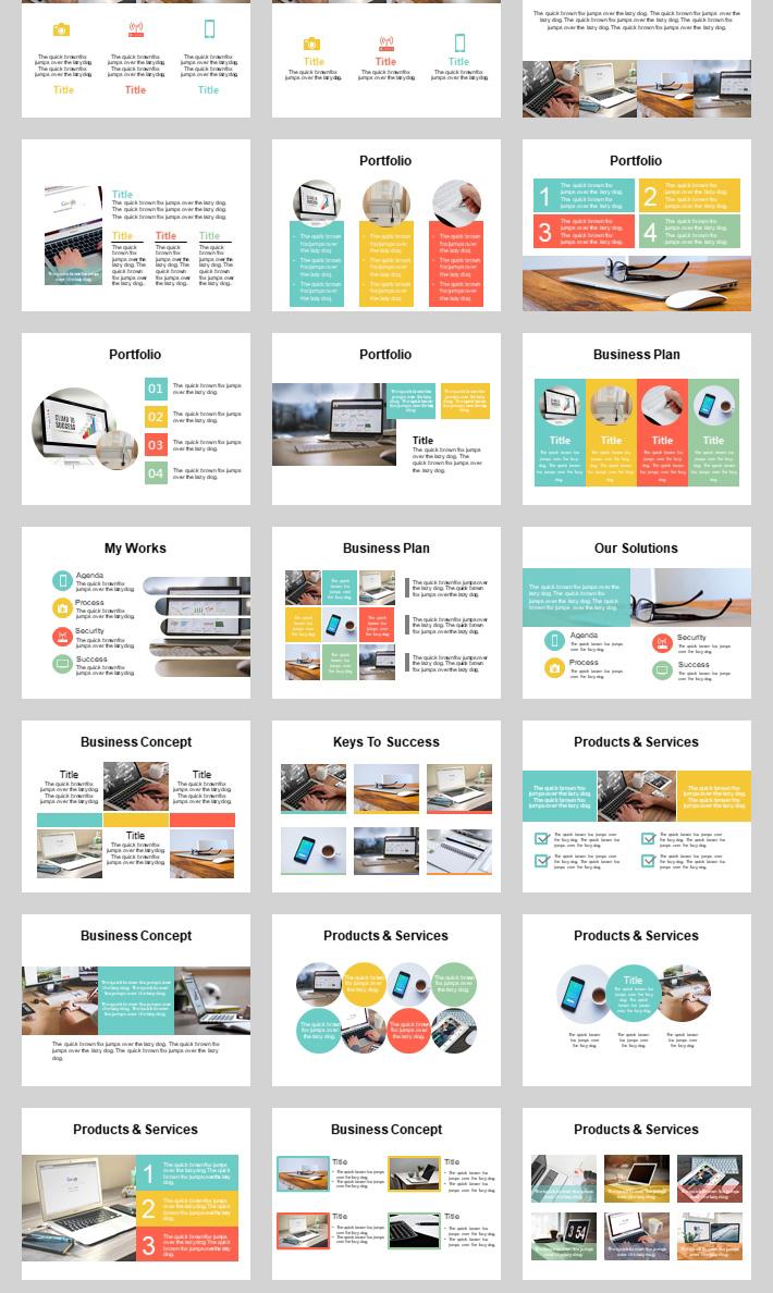 本套模板專門為快速制作PPT而精選的豪華素材補充包,共計500頁之多。模板內容全為矢量元素繪制,可隨意拆分分組,修改元素形狀和修改顏色,還可以通過調整自定義顏色,一鍵批量替換全部顏色,非常便于你定制屬于自己顏色,以便適應你原來模板的色彩搭配。能極大提高工作效率,方便使用。