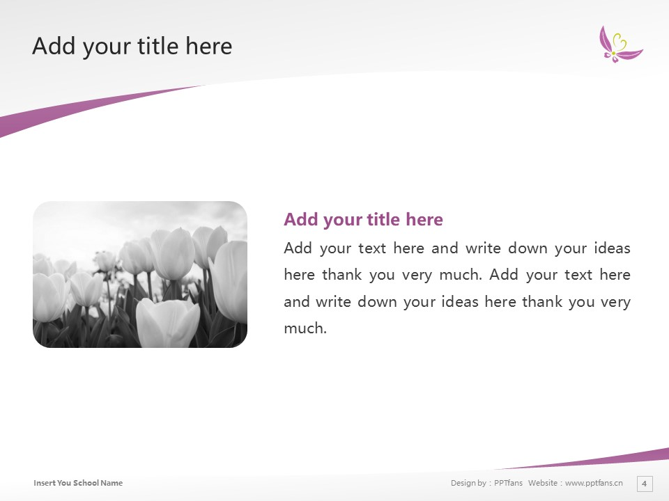 Kyoto Women's University Powerpoint Template Download | 京都女子大学PPT模板下载_幻灯片4