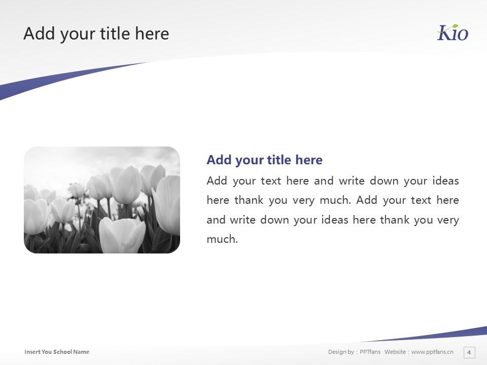 Kio University Powerpoint Template Download | 畿央大学PPT模板下载_幻灯片4
