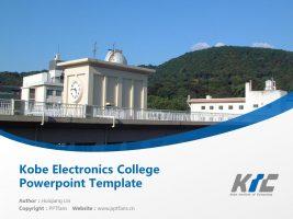 Kobe Electronics College Powerpoint Template Download | 神户电子专门学校PPT模板下载