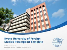 Kyoto University of Foreign Studies Powerpoint Template Download | 京都外国语大学PPT模板下载