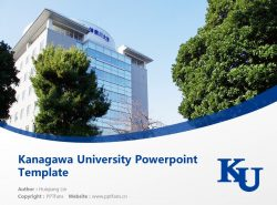 Kanagawa University Powerpoint Template Download | 神奈川大学PPT模板下载