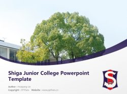Shiga Junior College Powerpoint Template Download | 滋贺女子短期大学PPT模板下载