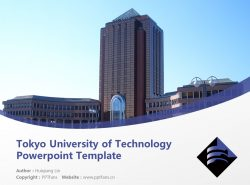 Tokyo University of Technology Powerpoint Template Download | 东京工科大学PPT模板下载
