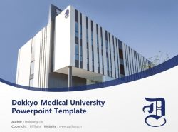 Dokkyo Medical University Powerpoint Template Download | 独协医科大学PPT模板下载