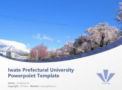 Iwate Prefectural University Powerpoint Template Download | 岩手县立大学PPT模板下载
